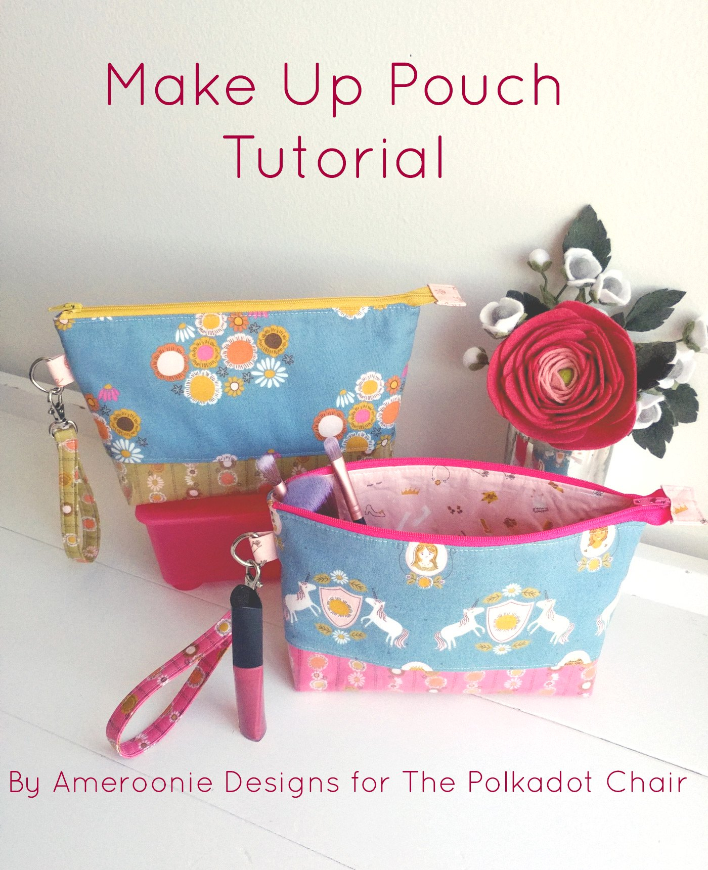 Sewing Vinyl Bags Zipper Pouch Diy Makeup Bag With Vinyl Lining The Polka Dot Chair
