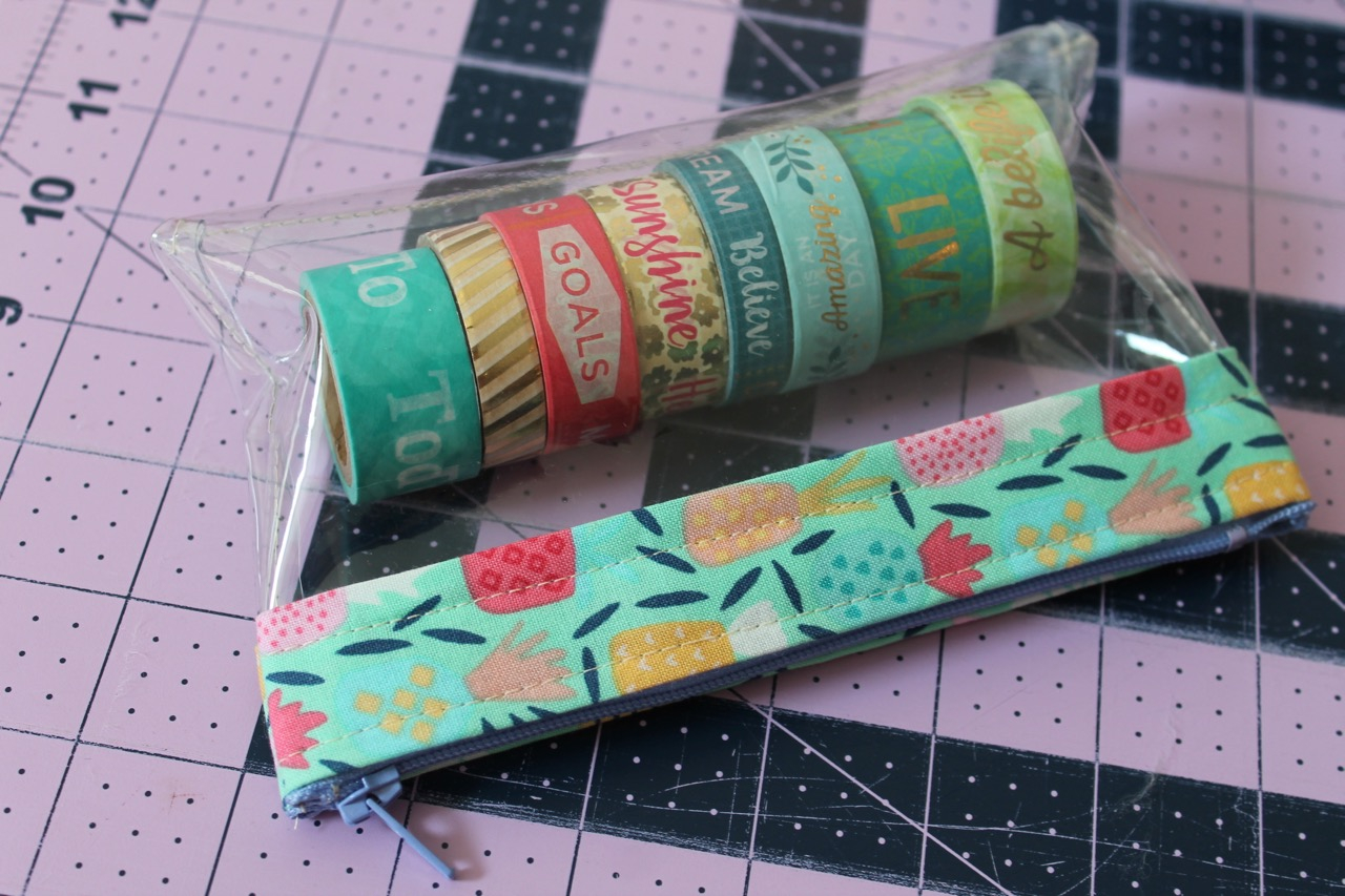Sewing Vinyl Bags Zipper Pouch How To Sew A Clear Zipper Bag From Vinyl Sewspire