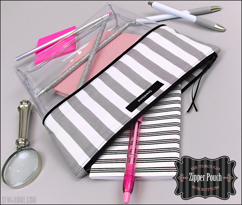 Sewing Vinyl Bags Zipper Pouch See Through Box Bottom Zipper Pouch Sew4home