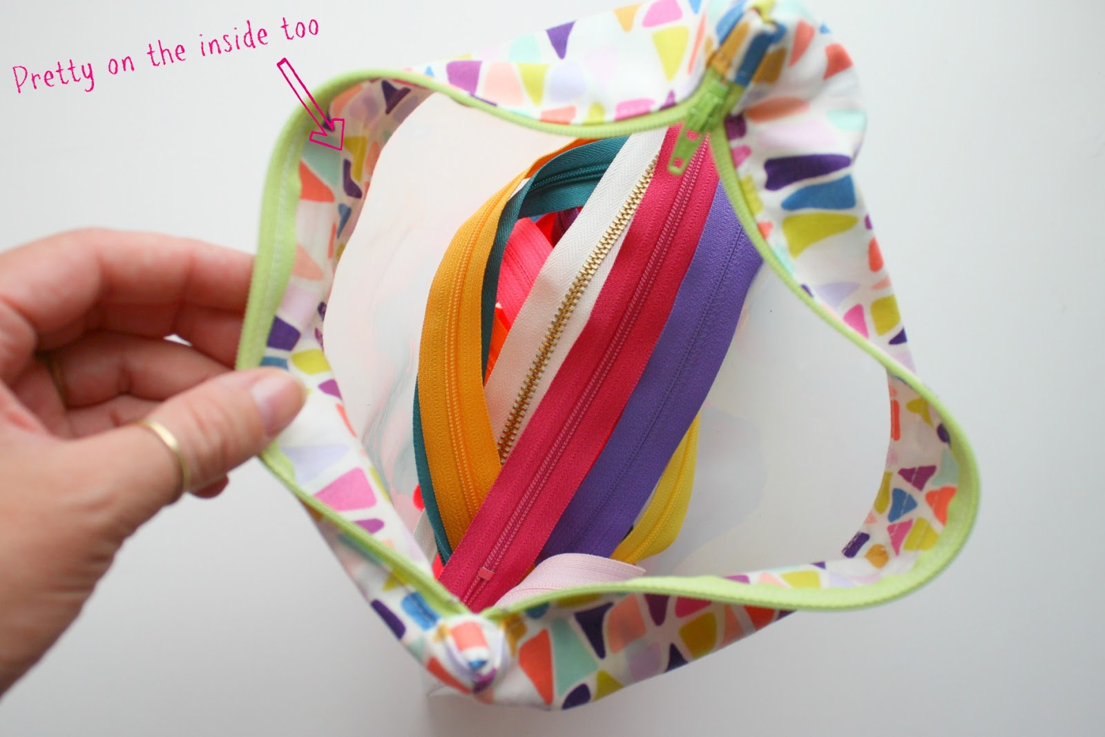 Sewing Vinyl Bags Zipper Pouch Sewhungryhippie How To Sew A Clear Vinyl Bag