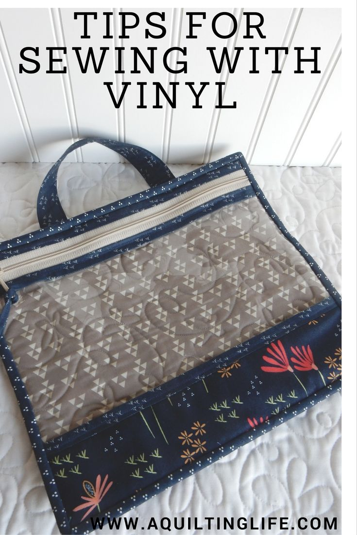 Sewing Vinyl Bags Zipper Pouch Tips For Sewing With Vinyl A Quilting Life Sew Zippered