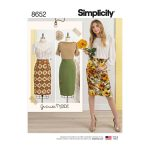 Simplicity Sewing Patterns Gertrude Made Womens Pencil Skirts Simplicity Sewing Pattern 8652