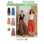 Simplicity Sewing Patterns Misses Easy To Sew Trousers And Shorts Simplicity Sewing Pattern