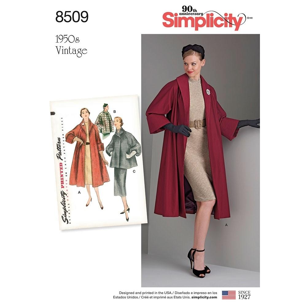 Simplicity Sewing Patterns Misses Vintage Coat Or Jacket Simplicity Sewing Pattern 8509 Sew