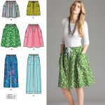 Simplicity Sewing Patterns Simplicity 2224 Misses Skirt Pants Or Shorts