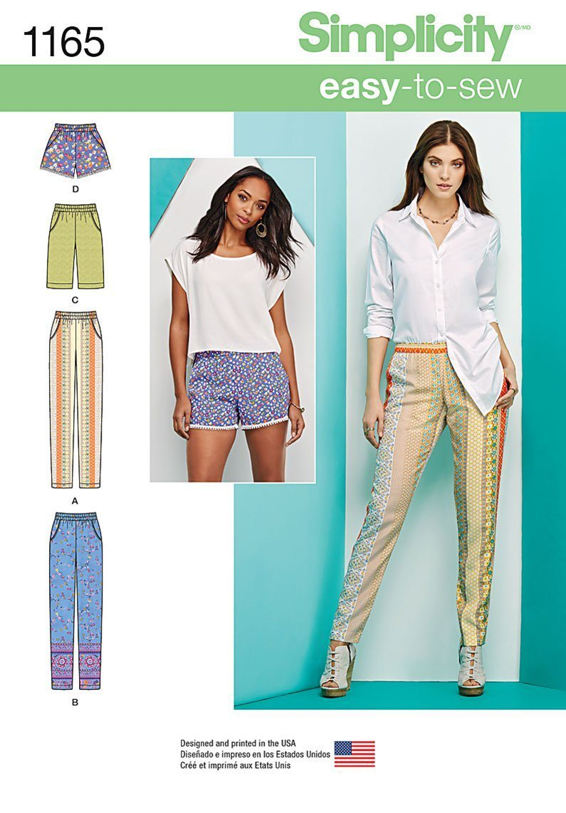 Simplicity Sewing Patterns Simplicity Sewing Pattern 1165 Fabric Land
