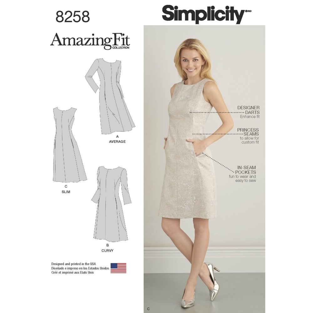 Simplicity Sewing Patterns Simplicity Sewing Pattern 8258 Closs Hamblin