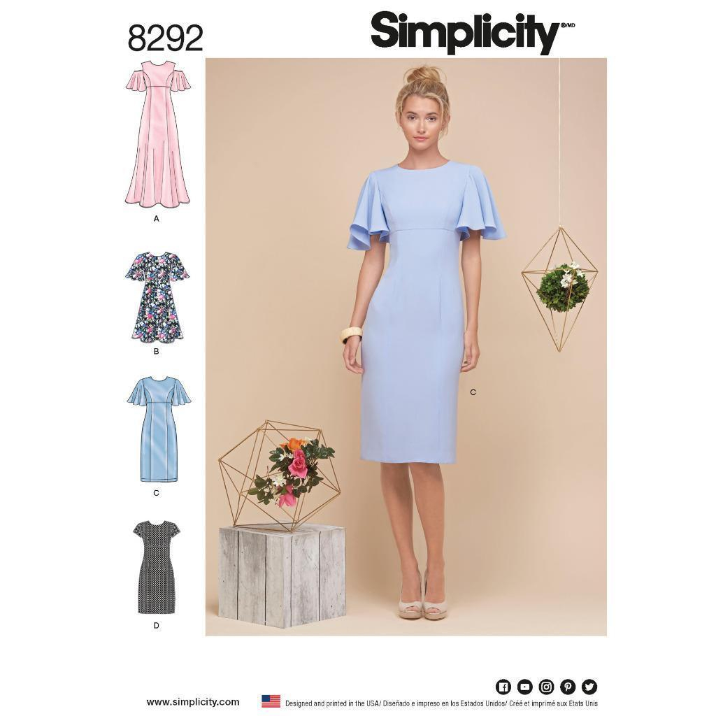 Simplicity Sewing Patterns Simplicity Sewing Pattern 8292 R5 Misses Miss Petite Dresses Uncut