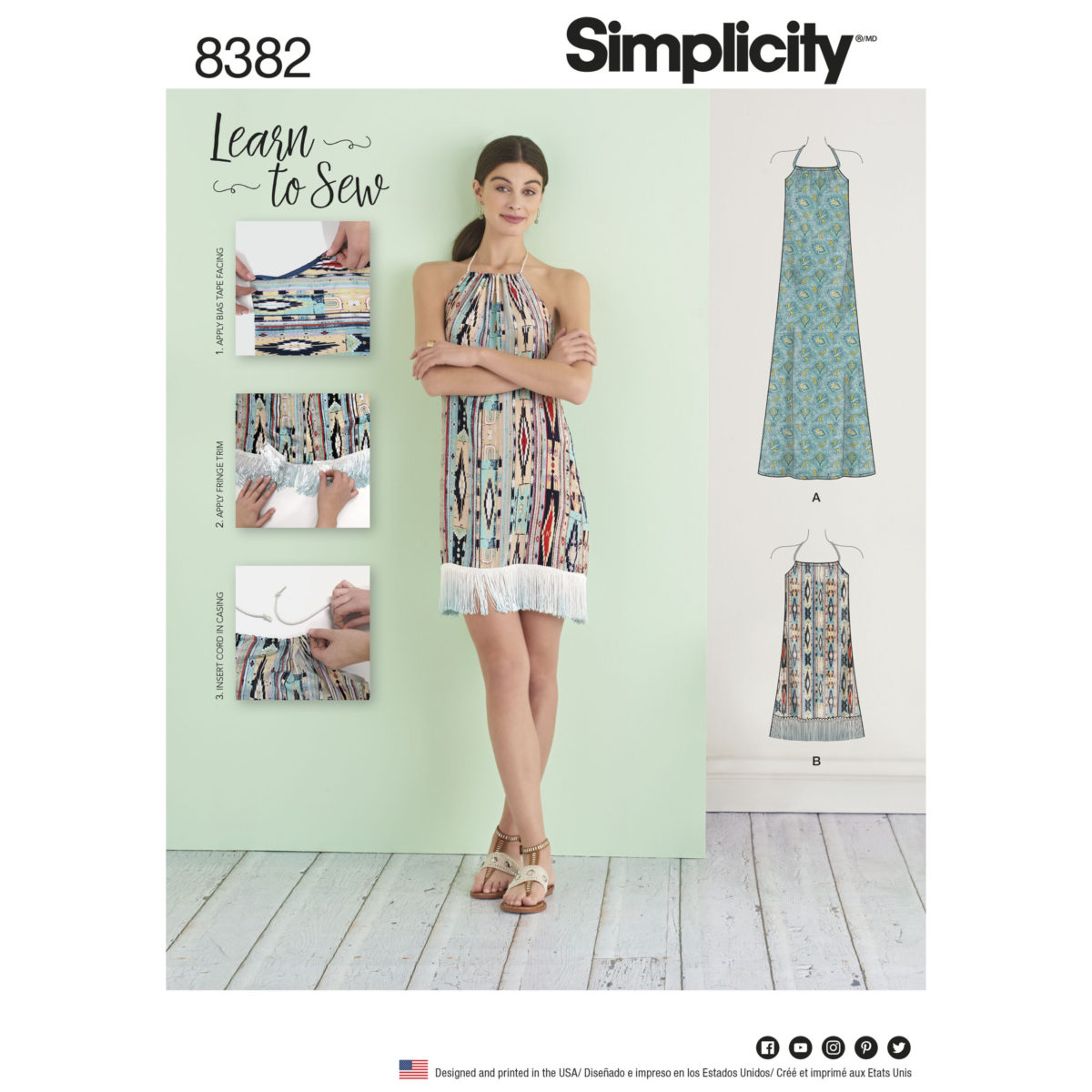 Simplicity Sewing Patterns Simplicity Sewing Pattern 8382 A Learn To Sew Summer Dress