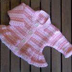 Stranded Knitting Patterns Free Ba Girl Pink Stripe Fair Isle Cardigan Hand Knitting Pattern