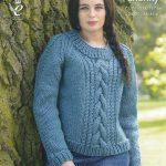 Sweater Knitting Patterns Ladies Super Chunky Knitting Pattern King Cole Cable Knit Sweaters