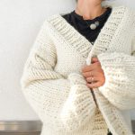 Sweater Knitting Patterns Simone Chunky Cardigan Knitting Pattern And Kit Flax Twine