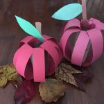 Toilet Paper Origami Easy Fall Apple Craft Using A Toilet Paper Roll A Mothers Random Thoughts