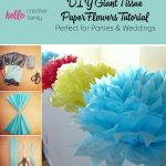 Toilet Paper Origami Easy Tutorial How To Make Diy Giant Tissue Paper Flowers Hello