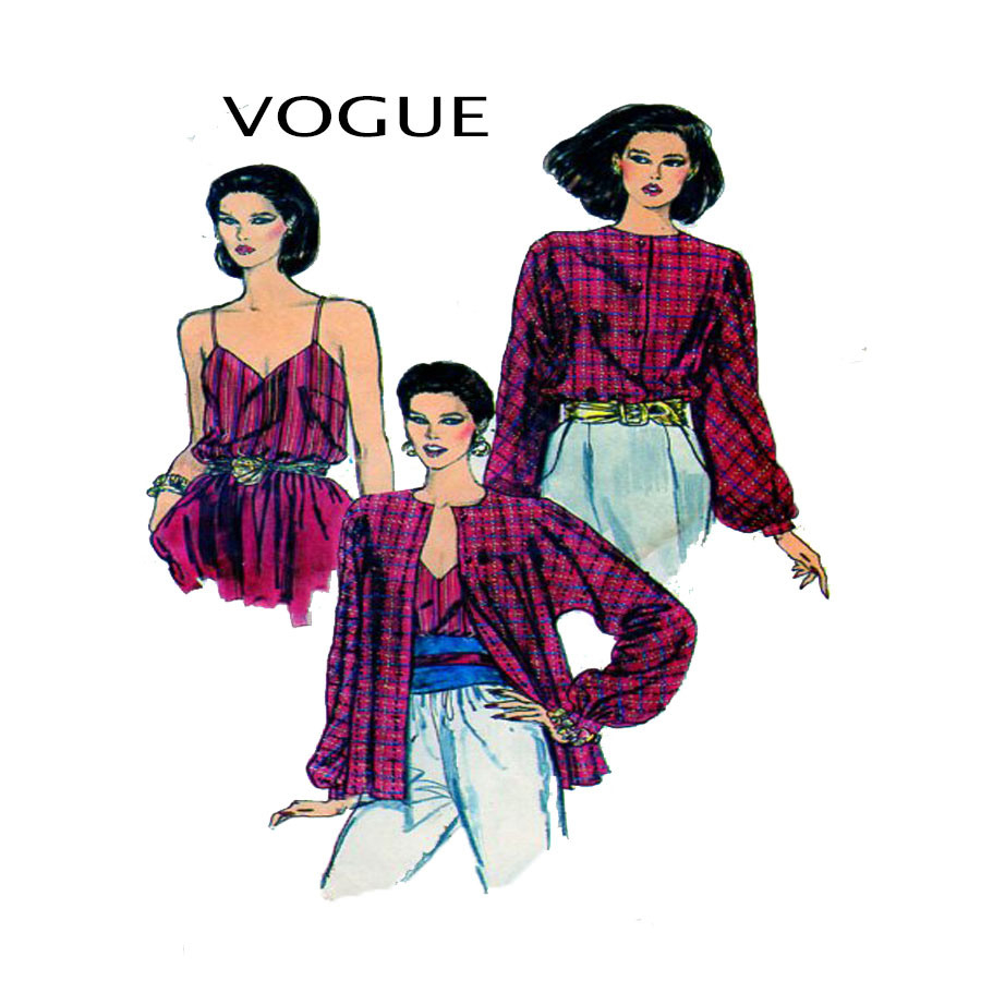 Trendy Sewing Patterns Vogue 8267 80s Fashion Sewing Pattern Vogue 8267 Women Bl Flickr
