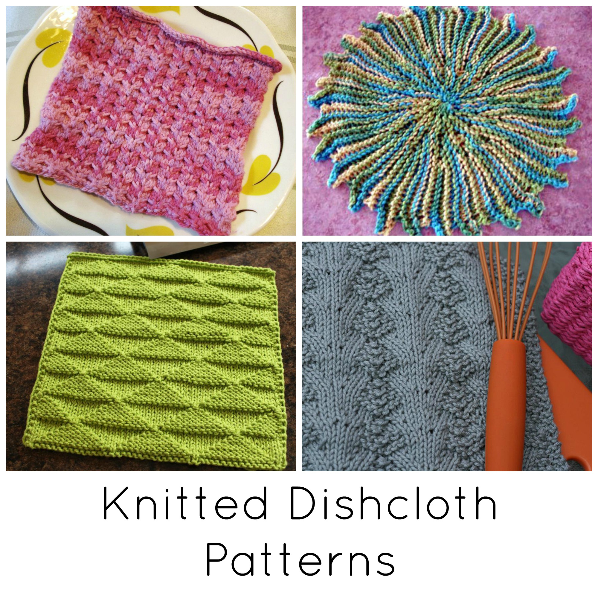 Washcloth Knitting Pattern 10 Quick Knitted Dishcloth Patterns