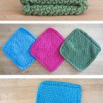 Washcloth Knitting Pattern Dishcloth Easy Knit Dishcloth Washcloth Knitting Pinterest Knitting