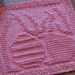 Washcloth Knitting Pattern Dishcloth Free Free Easter Dishcloth Knitting Pattern Patterns Knitting Bee