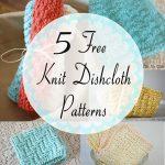 Washcloth Knitting Pattern Dishcloth Little Miss Stitcher 5 Free Knit Dishcloth Patterns