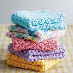 Washcloth Knitting Pattern Dishcloth Mary Maxim Free Springtime Bundle Dishcloths Pattern