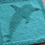 Washcloth Knitting Pattern Dishcloth One Crafty Mama Dolphin Dishcloth