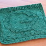 Washcloth Knitting Pattern Dishcloth One Crafty Mama Go Pack Green Bay Packers Dishcloth