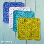 Washcloth Knitting Pattern Easy Crochet Textured Dishcloth Pattern Free Pattern Just Be Crafty