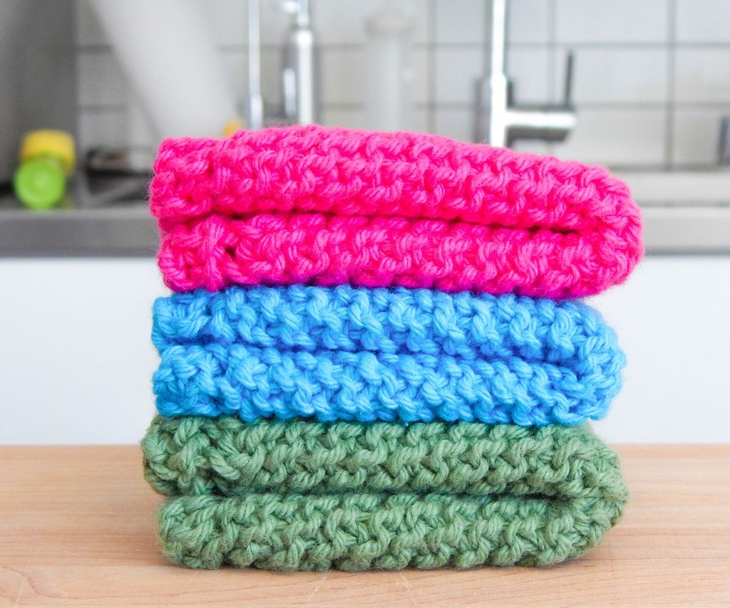 Washcloth Knitting Pattern Easy Easy Knit Dishcloth Washcloth 3 Steps With Pictures