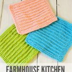 Washcloth Knitting Pattern Easy Farmhouse Kitchen Knitted Dishcloths Moogly Community Board