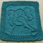 Washcloth Knitting Pattern Easy Free Knitting Pattern For Peanut Elephant Cloth Easy Cloth