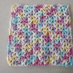 Washcloth Knitting Pattern Easy Free V Stitch Dishcloth Pattern