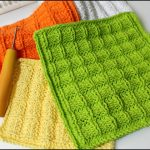 Washcloth Knitting Pattern Easy Loom Knitting Dishcloth Washcloth Waffle Stitch Project Pattern