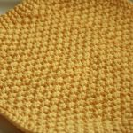 Washcloth Knitting Pattern Easy Project 10 Double Moss Kitchen Cloth The Craft Floozy