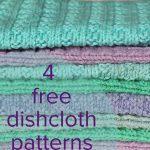 Washcloth Knitting Pattern Free 4 Free Dishcloth Patterns Loveknitting Blog