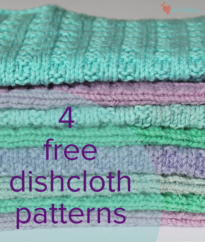 Washcloth Knitting Pattern Free 4 Free Dishcloth Patterns Loveknitting Blog