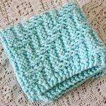 Washcloth Knitting Pattern Free Little Miss Stitcher 5 Free Knit Dishcloth Patterns