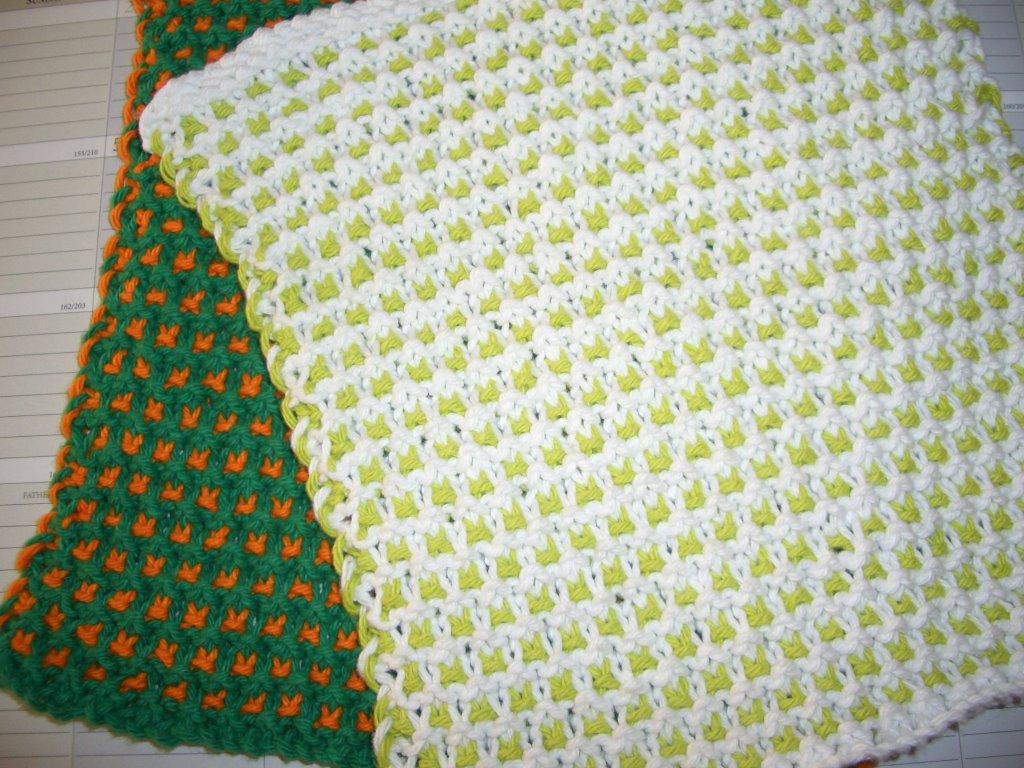 Washcloth Knitting Pattern Free Patterns Garter Slip Stitch Dishcloth