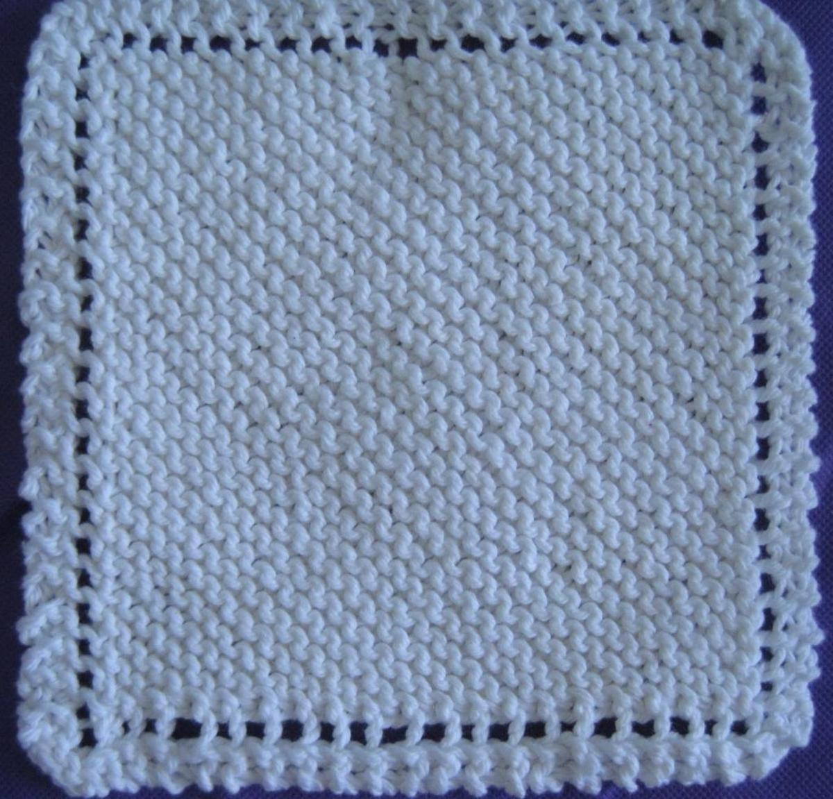 Washcloth Knitting Pattern Free The Old Time Favorite Dish Cloth Craftsy
