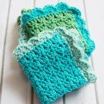 Washcloth Knitting Pattern Simple Easy Crochet Dish Cloth Pattern