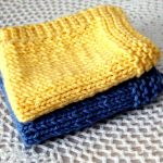 Washcloth Knitting Pattern Simple Easy Knit Dishcloth Pattern Shoregirls Creations Knitted