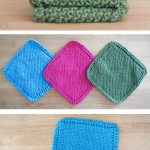 Washcloth Knitting Pattern Simple Easy Knit Dishcloth Washcloth Knitting Pinterest Knitting